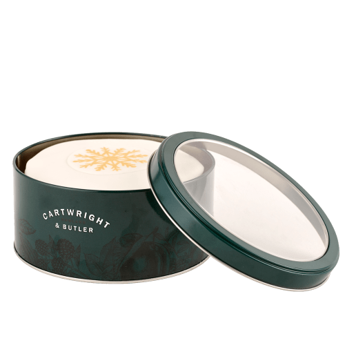 Iced Christmas Cake in Round Tin
