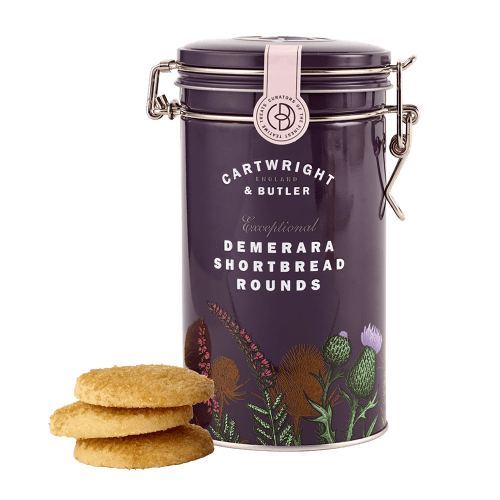 Demerara Shortbread Rounds in Tin