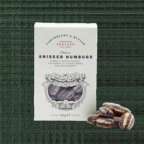 Aniseed Humbugs in Carton
