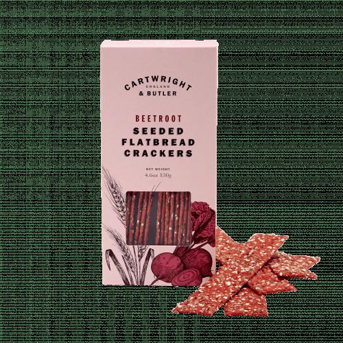 Beetroot Seeded Flatbread Crackers