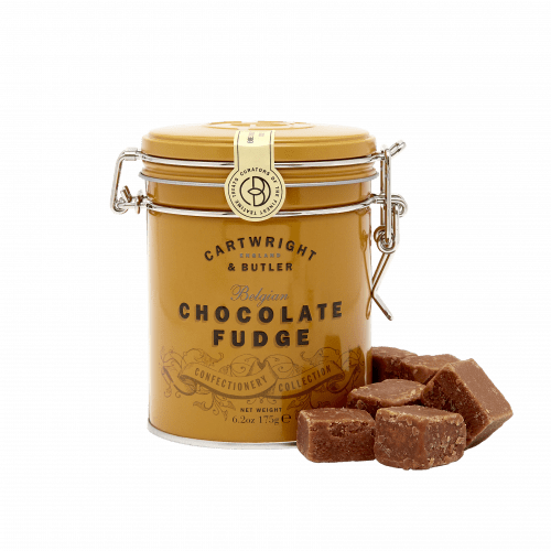 Belgian Chocolate Fudge in Tin - Product