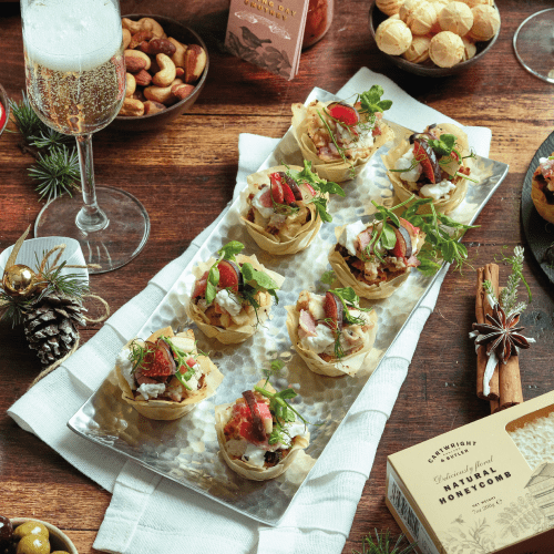 Goat's Cheese and Christmas Pudding Canapés