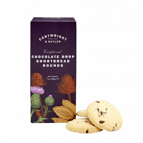 Chocolate Drop Shortbread Rounds in Carton - Product