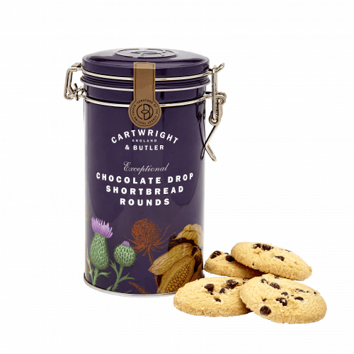 Chocolate Drop Shortbread Rounds Tin