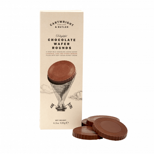 Chocolate Wafer Rounds in Carton