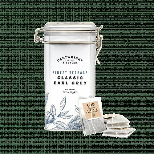 Earl Grey Tea Bags Caddy
