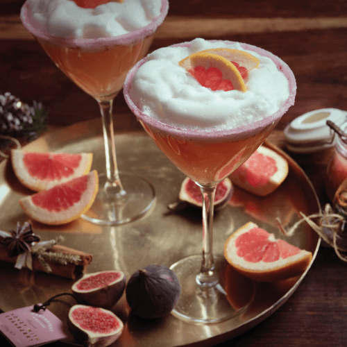 Gin, Grapefruit and Cranberry Honey Sour