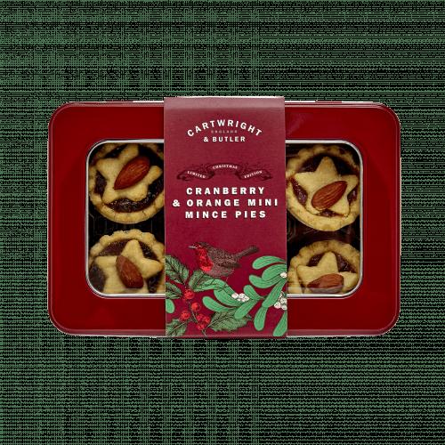 Cranberry & Orange Mince Pies in Tin