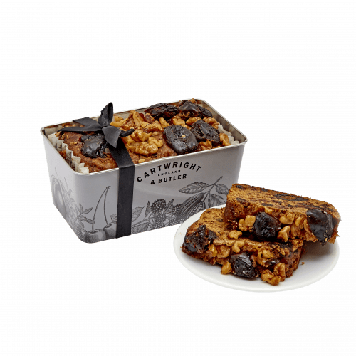 Date & Walnut Cake in Tin - product