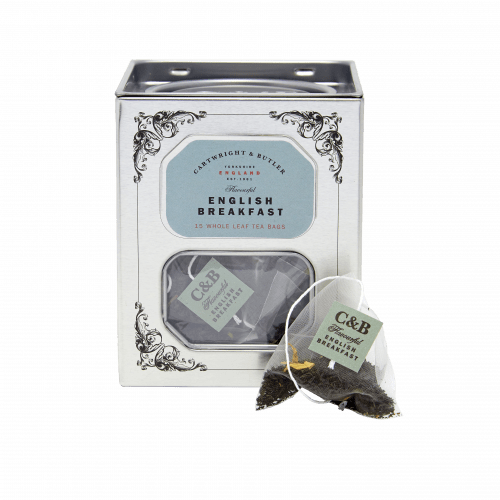 English Breakfast Whole Leaf Tea Bags Caddy