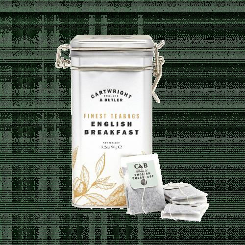 English Breakfast Tea Bags in Caddy