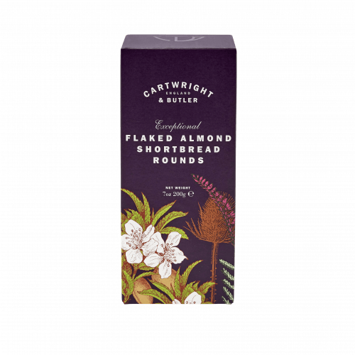 Flaked Almond Shortbread Rounds Carton