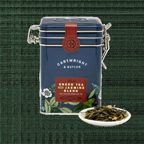 Green Tea with Jasmine Blend Loose Leaf Tea Caddy