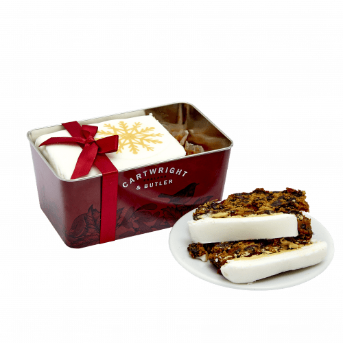 Iced Christmas Loaf Cake in Tin