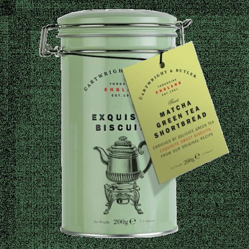 Matcha Tea Shortbread Rounds in Tin