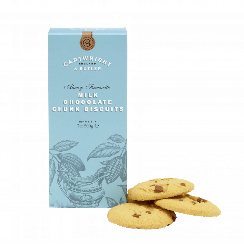 Milk Chocolate Chunk Biscuits in Carton