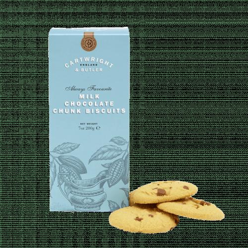Milk Chocolate Chunk Biscuits Carton