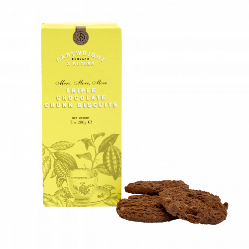 Triple Chocolate Chunk Biscuits in Carton