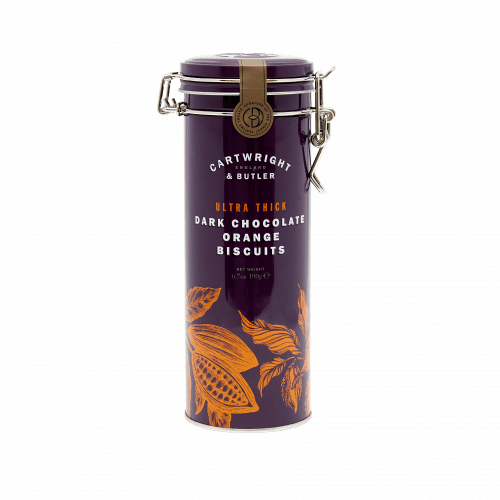 Ultra Thick Dark Chocolate Orange Biscuits Tin