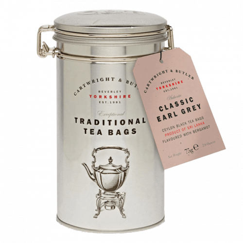 Earl Grey Tea Bags Caddy