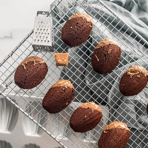 Chocolate Gingerbread Madeleines