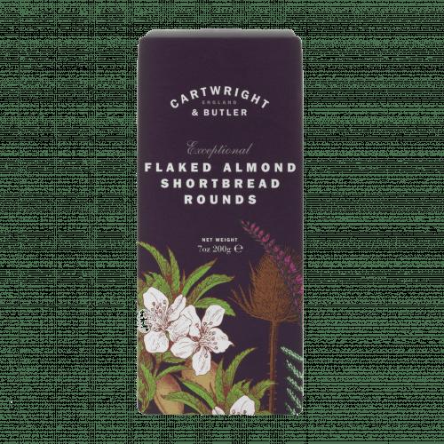 Flaked Almond Shortbread Rounds Carton