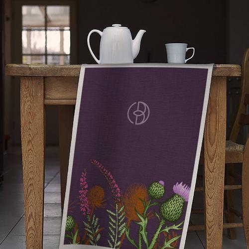Thistle Tea Towel