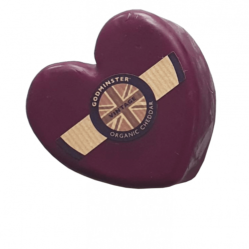 Godminster Vintage Organic Cheddar Cheese - Heart shape 200g