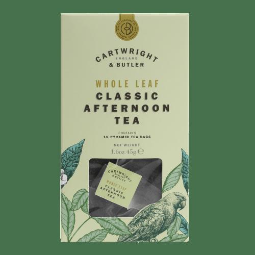 Afternoon Whole Leaf Tea Bags Carton