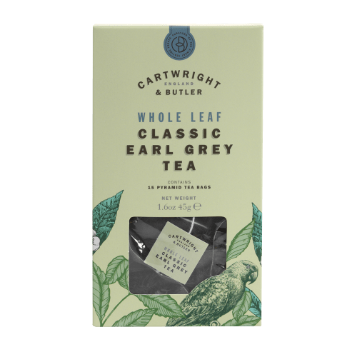 Earl Grey Carton Whole Leaf Tea Bags Carton