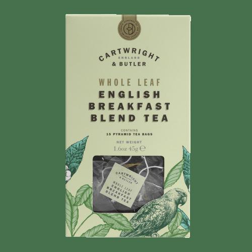 English Breakfast Whole Leaf Tea Bags Carton