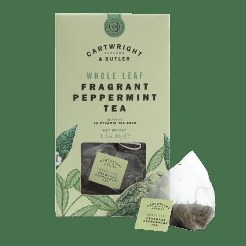 Peppermint tea cartons