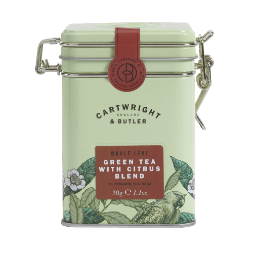 Citrus Green Tea Whole Leaf Tea Bags Tin