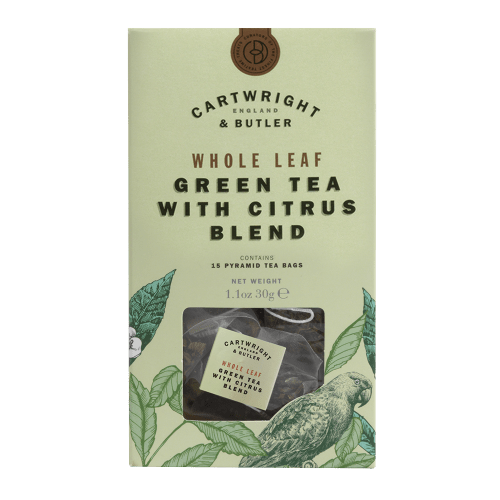 Citrus Green Tea Whole Leaf Tea Bags Carton