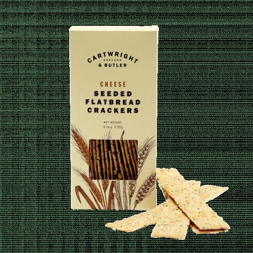 Cheese Seeded Flatbread Crackers