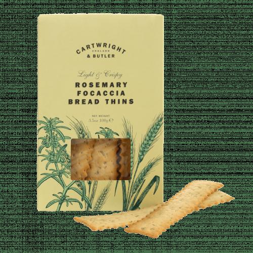 Rosemary Focaccia bread thins