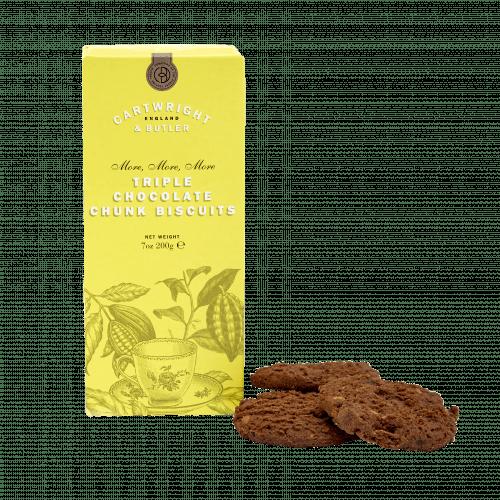 Triple Chocolate Chunk Biscuits