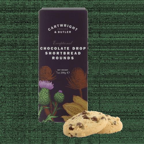 Chocolate Drop Shortbread Rounds