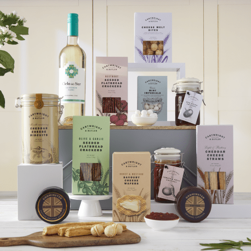 The Ultimate Cheeseboard Hamper with White Wine