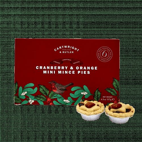 Cranberry & Orange Mince Pies in Carton